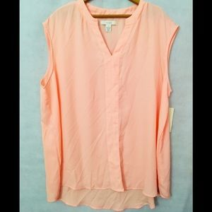 🆕Sejour (Nordstrom Rack)High/Liw Blouse Peach NWT